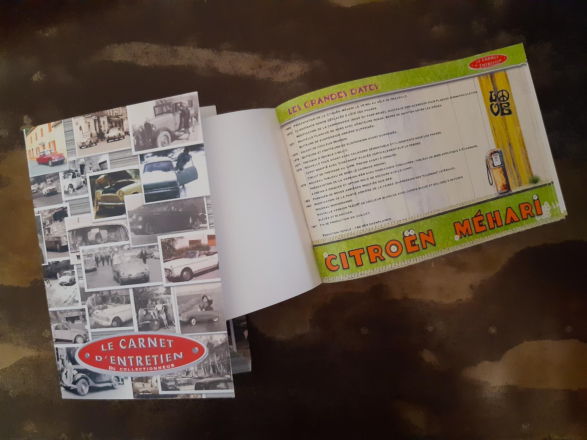 carnet d'entretien méhari