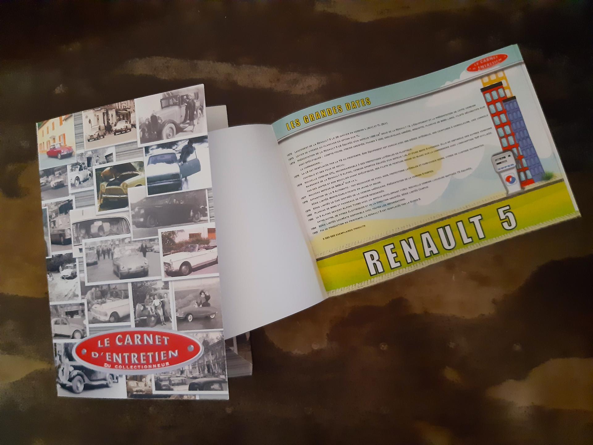carnet d'entretien renault 5 R5