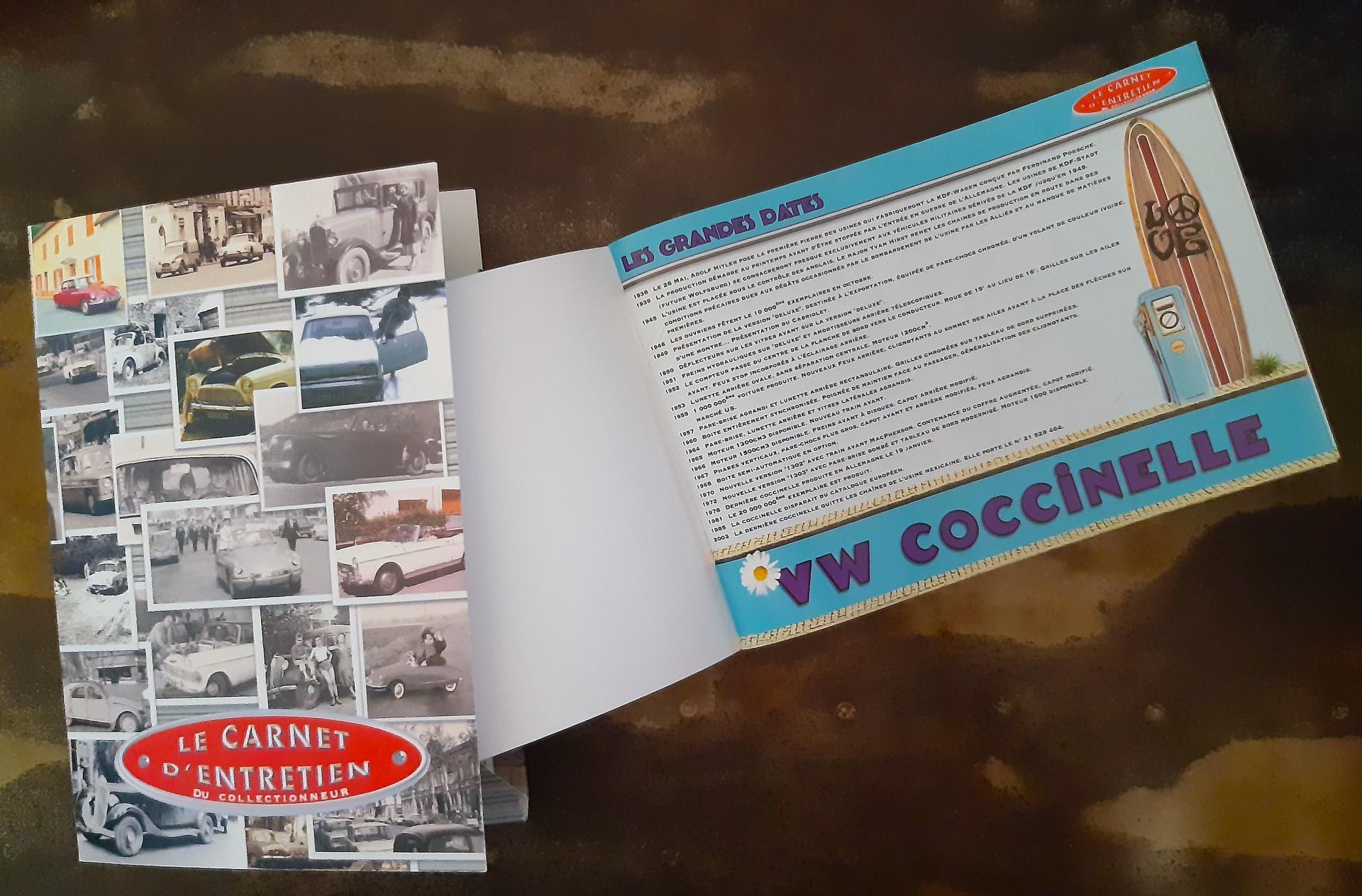 carnet d'entretien cox
