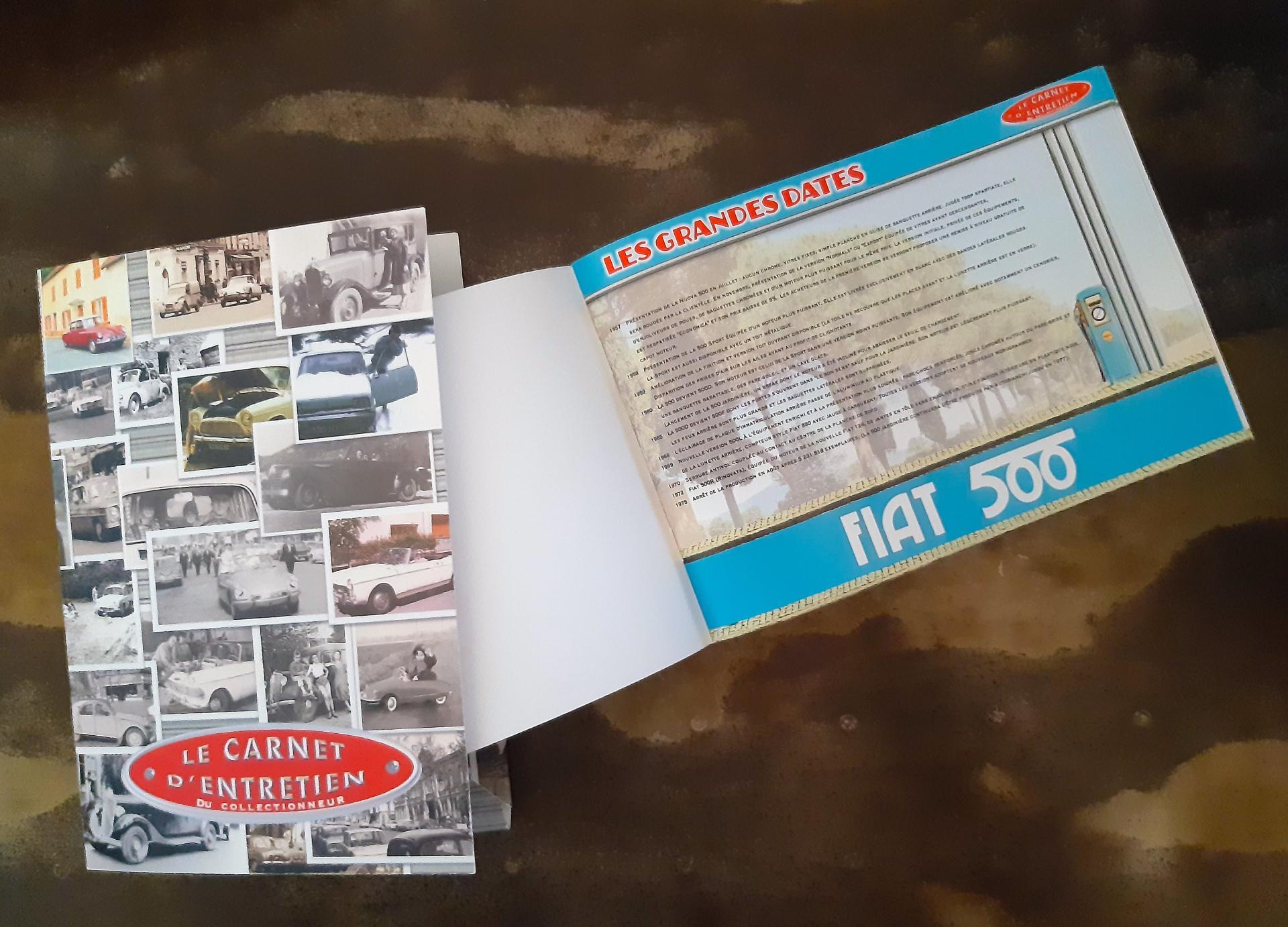carnet d'entretien Fiat 500