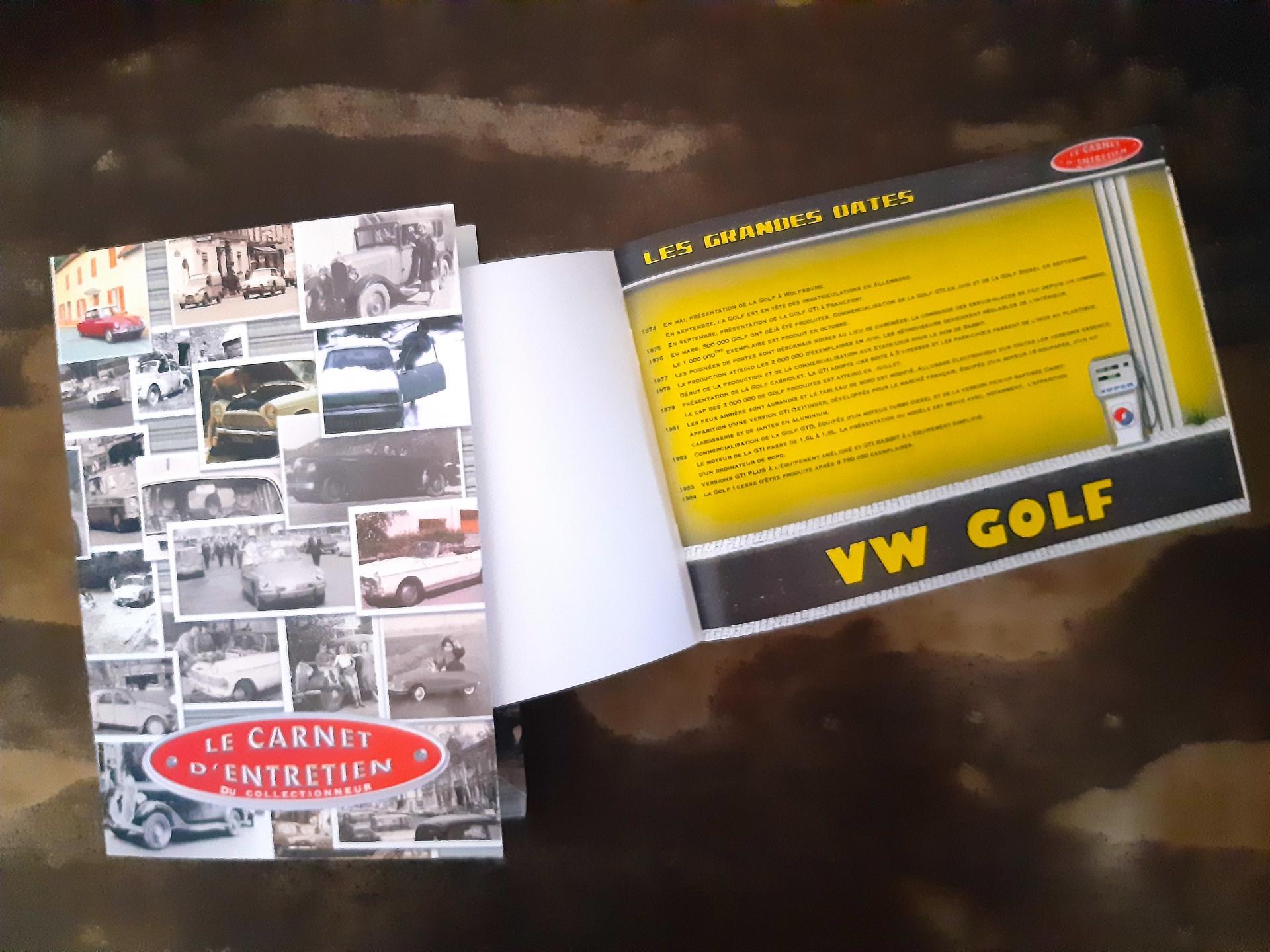 carnet d'entretien golf