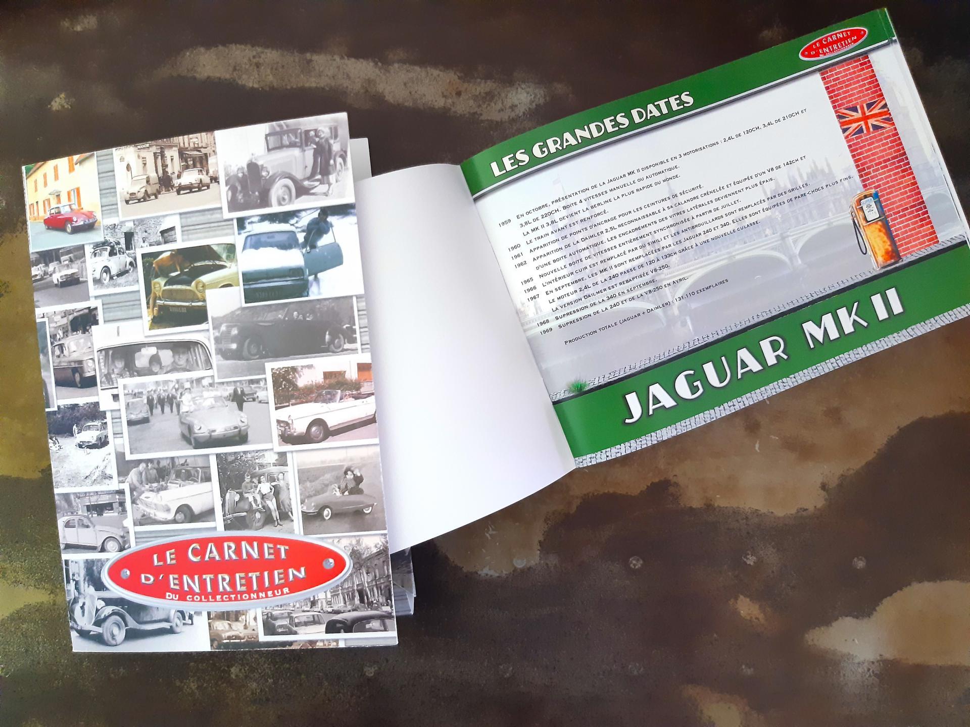 Carnet d entretien jaguar mkii