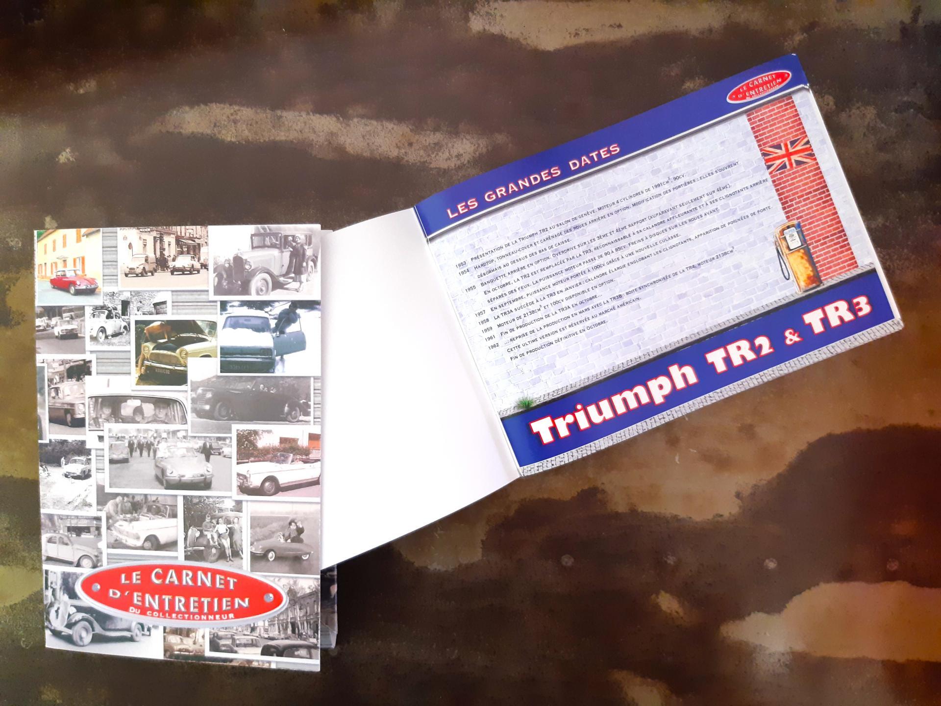 Carnet d entretien triumph tr2 et 3