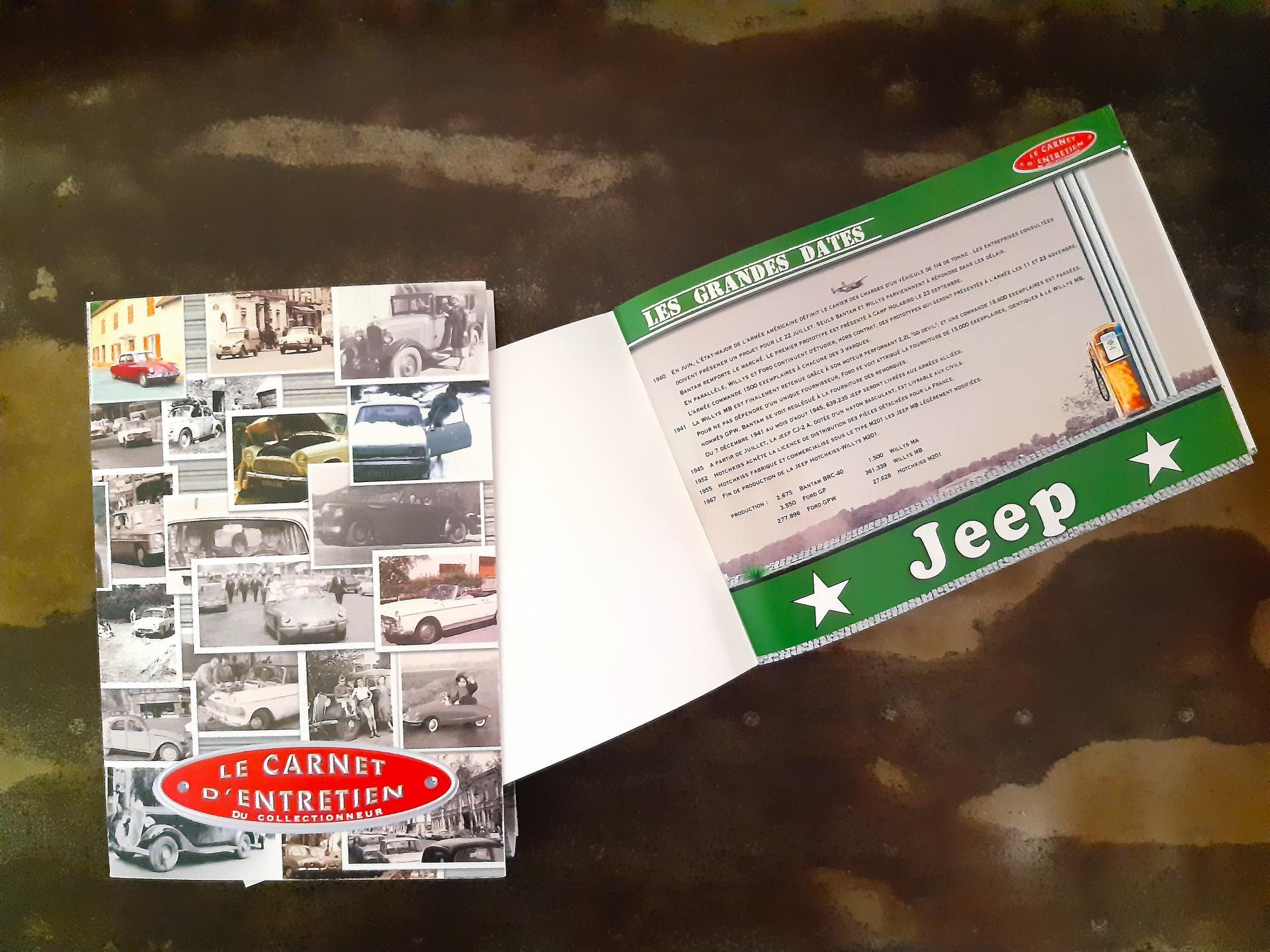 Carnet entretien jeep