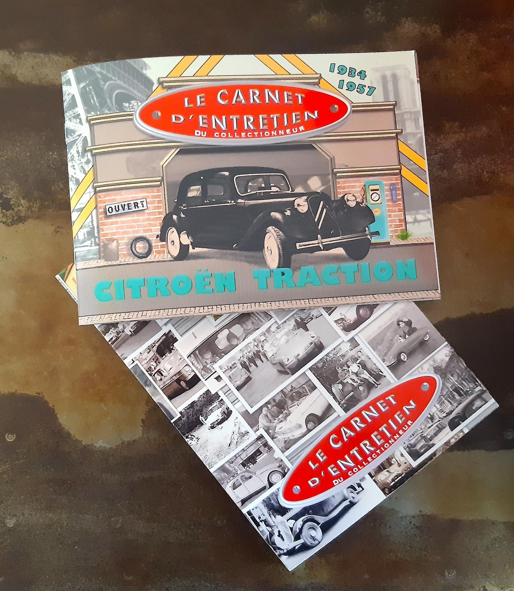 Carnet et pochette traction dessus