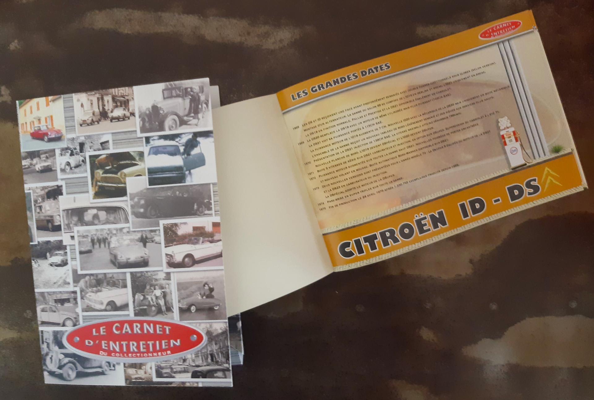 carnet d'entretien Citroën DS ID 1968 - 1975