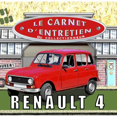 carnet d'entretien Renault 4 L